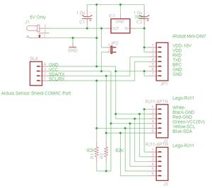 Arduino2NXT2iRobot