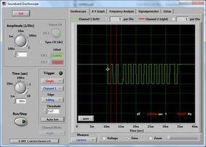 Soundcard Oscilloscope v1.32 capturing RC5 signal